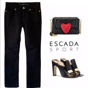ESCADA SPORT 5 POCKET BLACK NARROW STRAIGHT JEANS